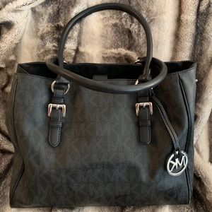 Authentic Michael Kors black monogram purse